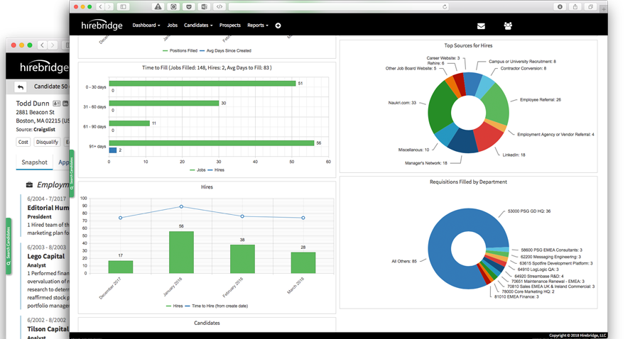 Hirebridge Features - Applicant Tracking - Recruiting Software